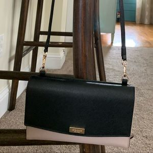 Kate spade small crossbody tan black purse